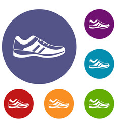 men sneakers icons set vector image vector image