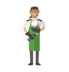 Molecular kitchen chef vector image vector image