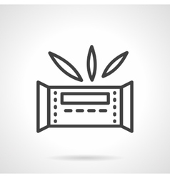 Waffle bar simple line icon vector image
