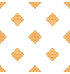 Checkered tablecloths pattern - endless - yellow vector image