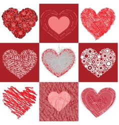group heart vector image vector image