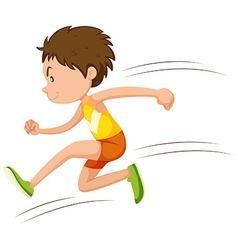 Man athlete running in a race vector image