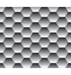 Seamless background template made from hexagons vector