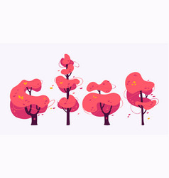 abstract autumn tree set vector image