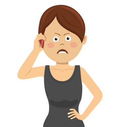 angry businesswoman talking on the smartphone vector image