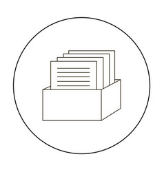 Archive icon outline single education icon from vector