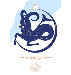 Astrology capricorn zodiac sign vector