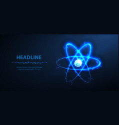 atom abstract 3d phisics molecule atom vector image