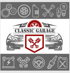 Auto repair icons and service logo vector