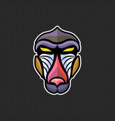 Baboon logo design template head icon vector