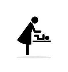 baby changing restroom sign vector image