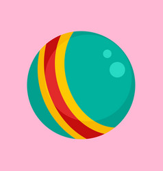 baby rubber ball icon flat style vector image