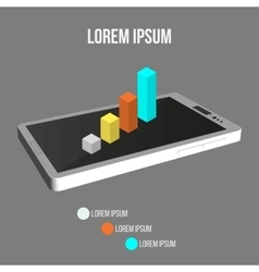 Background Of Modern Mobile Phone With Infographic vector image