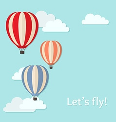 background with air balloons vector image