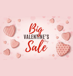 big valentines day sale pink minimalistic web vector image