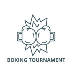 boxing tournament line icon boxing vector image