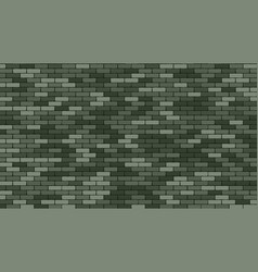 brik wall green stone brik wall buidling vector image