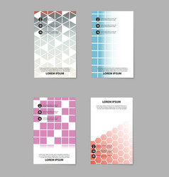 Business set brochure template layout cover vector