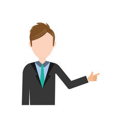 businessman executive profile vector image