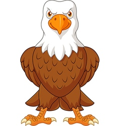 Cartoon bald eagle posing isolated vector image