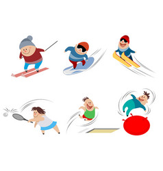 cartoon children in action vector image