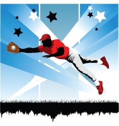 catch the ball vector image