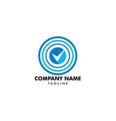 check mark target logo icon vector image