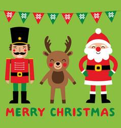 Christmas cartoon characters santa claus vector