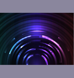 circle digital abstract layer background vector image