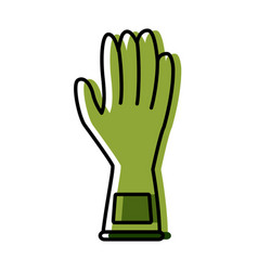 Cleaning glove isolated vector