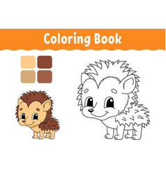Coloring book for kids cheerful character cute vector