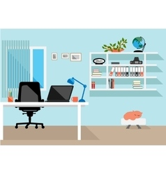 Creative home freelance desktop workspace vector