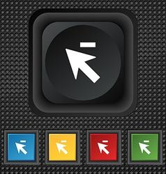 Cursor arrow minus icon sign symbol Squared vector