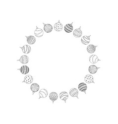 decorative round frame from christmas ball toy vector image