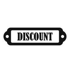 Discount label icon simple style vector