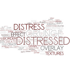 Distress word cloud concept vector