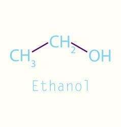 Ethanol molecules in volumetric style isolated vector