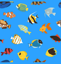 exotic tropical fish underwater ocean or aquarium vector image