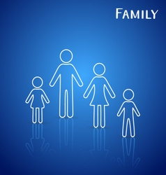 Family members icons vector image