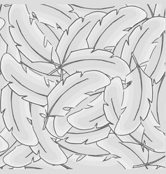 Feather bird seamless pattern plume gray vector