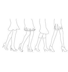 Female leg sketch vector