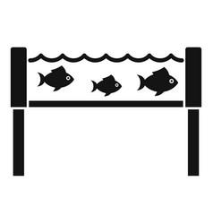 Fish industry aquarium icon simple style vector