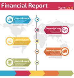 five points financial report infographic vector image