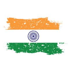 flag india on white background vector image