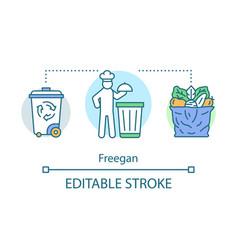 Freegan concept icon rejecting consumerism idea vector