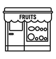 Fruits street shop icon outline style vector