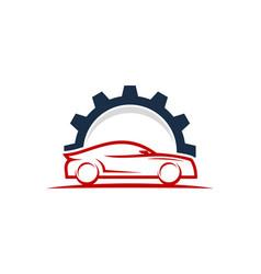 gear automotive logo icon design vector image