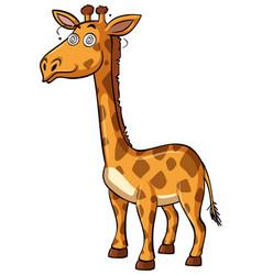 Giraffe with dizzy eyes vector