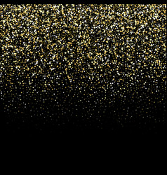 Gold glitter texture on a black background golden vector