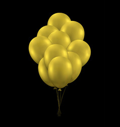 golden balloons background vector image